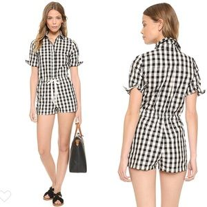 NWT Solid & Striped Gingham Romper